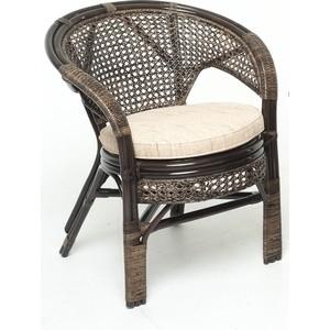 Кресло с подушкой Vinotti 02/15В темный коньяк