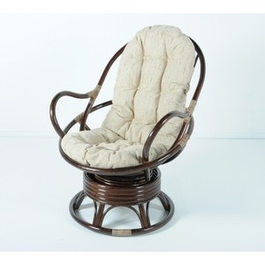 Кресло вращающееся с подушкой Vinotti 05/01 темный коньяк