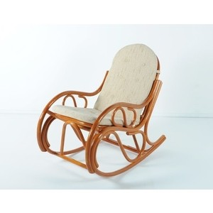 Кресло-качалка с подушкой Vinotti 05/04 коньяк