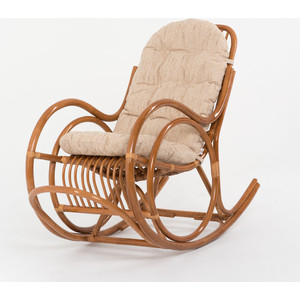 Кресло-качалка с подушкой Vinotti 05/04A TS коньяк