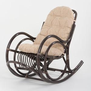 Кресло-качалка с подушкой Vinotti 05/04A TS темный коньяк