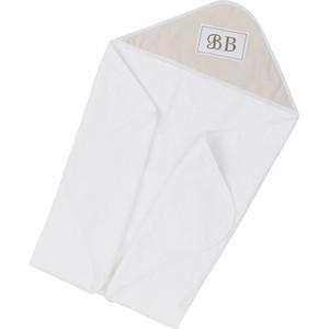 Полотенце с капюшоном Candide Tinours Белый с бежевым 100*100 cm 182741