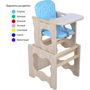 Стул-стол для кормления МЕГА ДОМ Фунтик Голубой ф-2 гл
