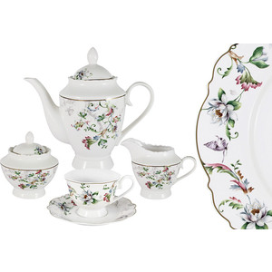Чайный сервиз 15 предметов на 6 персон Anna Lafarg Primavera Йорк (AL-NHK15-302-PW)