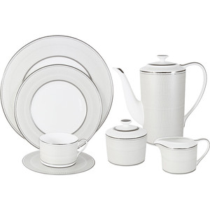 Чайный сервиз 40 предметов на 12 персон Naomi Жемчуг (NG-I150905B-40-AL)