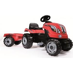 Трактор педальный Smoby XL с прицепом, красный (710108)