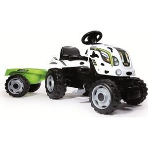 Трактор педальный Smoby XL с прицепом, пятнистый (710113)