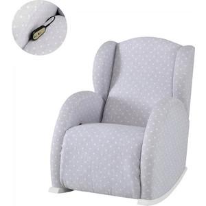 Кресло-качалка Micuna Wing/Flor Relax white/galaxy grey