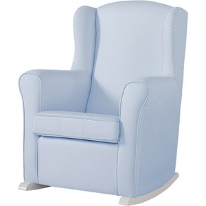 Кресло-качалка Micuna Wing/Nanny white/blue stripes