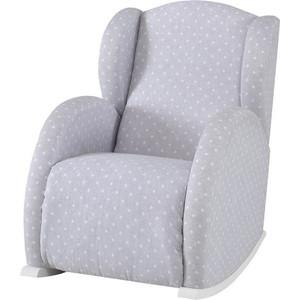 Кресло-качалка мини Micuna Wing/Flor white/galaxy grey