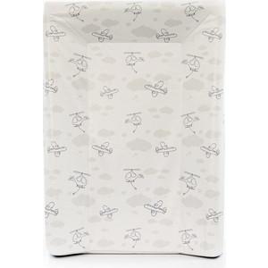 Матрас пеленальный Ceba Baby 70 см с изголовьем на кровать 120*60 см Grey Planes W-201-093-261