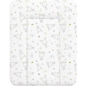Матрас пеленальный Ceba Baby 70*50 см мягкий на комод Dream White roll-over W-143-903-100
