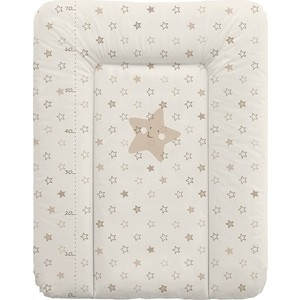 Матрас пеленальный Ceba Baby 70*50 см мягкий на комод Stars beige W-143-066-111