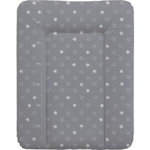 Матрас пеленальный Ceba Baby 70*50 см мягкий на комод Stars dark grey W-143-066-265