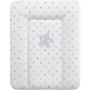 Матрас пеленальный Ceba Baby 70*50 см мягкий на комод Stars grey W-143-066-260