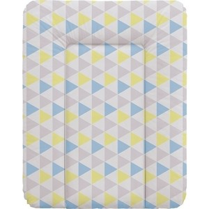Матрас пеленальный Ceba Baby 70*50 см мягкий на комод Triangle blue-yellow W-143-067-019