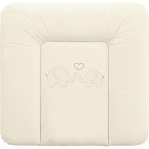 Матрас пеленальный Ceba Baby 70*75 см мягкий на комод Elephants creamy W-144-057-171