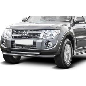 Купить Защита переднего бампера d76+d57 Rival для Mitsubishi Pajero IV (2011-2014 / 2014-н.в.), R.4002.009