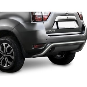 Купить Защита заднего бампера d57 скоба Rival для Nissan Terrano (2014-н.в.), R.4119.004
