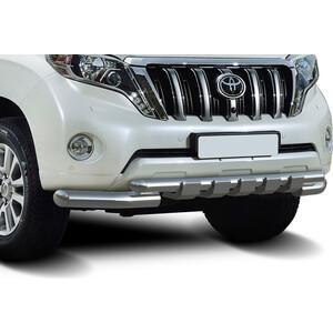 Купить Защита переднего бампера d76+d57 с профильной защитой картера Rival для Toyota Land Cruiser Prado 150 (2009-2013 / 2013-2017), R.5704.034