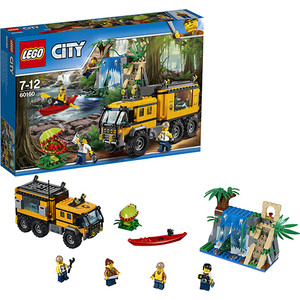 Конструктор Lego Город Передвижная лаборатория в джунглях