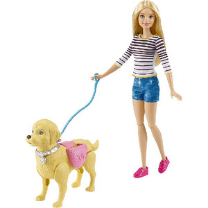 Кукла Mattel Barbie Игровой набор ''Прогулка с питомцем''