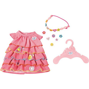Аксессуар для куклы Zapf Платье и ободок-украшение