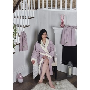 Набор халат с полотенцем Karna махровый Adra L/XL светло-лаванда (2739/CHAR010)