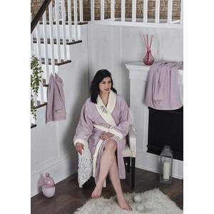 Набор халат с полотенцем Karna махровый Adra 2XL светло-лаванда (2740/CHAR010)