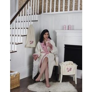 Набор халат с полотенцем Karna махровый Adra 2XL молочный (2740/CHAR003)