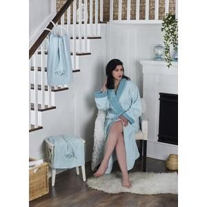 Набор халат с полотенцем Karna махровый Adra 2XL ментол (2740/CHAR008)