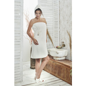 Набор для сауны женский Karna Paris кремовый (325/CHAR004)