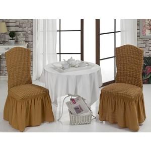 Чехлы на стулья 2 штуки Bulsan горчичный (1906/CHAR011)