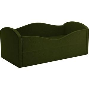 Детская кровать АртМебель Сказка вельвет зеленый