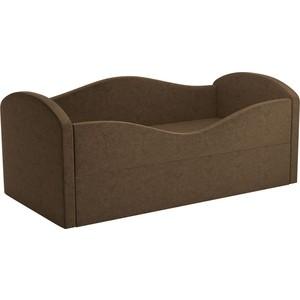 Детская кровать АртМебель Сказка вельвет коричневый