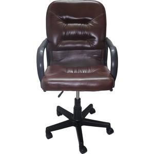 Кресло Союз мебель Шико пиастра экокожа коричневая