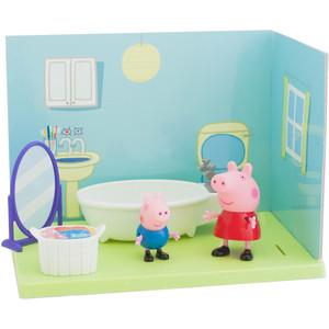 Игровой набор Росмэн Свинка Пеппа ''Ванная комната Пеппы и Джорджа'' 8 предметов (33846)