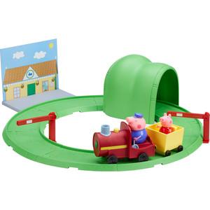 Игровой набор Росмэн Свинка Пеппа ''Паровозик с туннелем'' 8 предметов (33847)