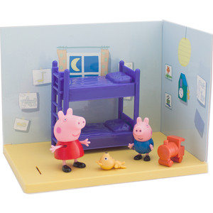 Игровой набор Росмэн Свинка Пеппа ''Спальня Пеппы и Джорджа'' 8 предметов (33845)