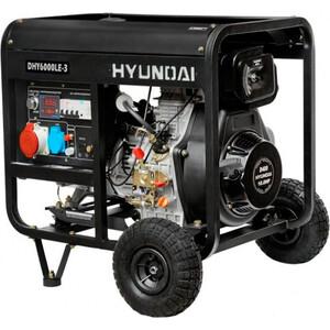 Генератор Hyundai DHY6000LE-3 дизельный + колёса