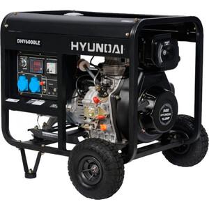Генератор Hyundai DHY6000LE дизельный + колёса