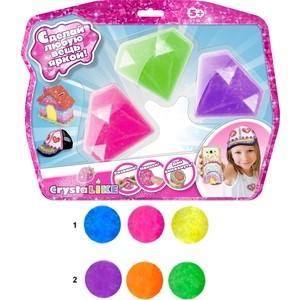 Набор для творчества 1Toy Crystalike, 3 баночки в виде кристаллов с массой для моделирования (Т10849)