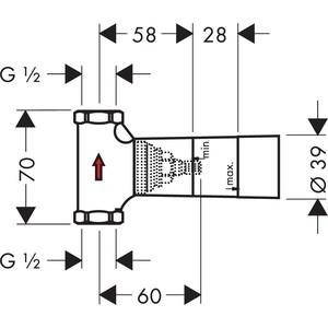 Запорный вентиль Hansgrohe внутренняя часть (15973180) внутренняя часть запорного вентиля axor starck shower collection 10971180