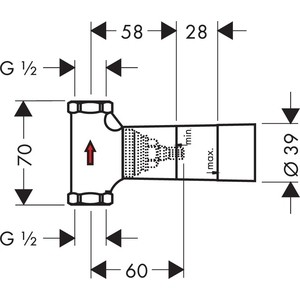 Запорный вентиль Hansgrohe внутренняя часть (15974180) внутренняя часть запорного вентиля axor starck shower collection 10971180