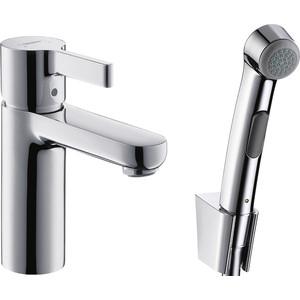 Смеситель для раковины Hansgrohe Metris S с гигиеническим душем (31160000) hansgrohe metris classic 31478000 для ванны с душем