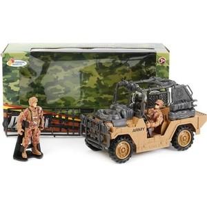 Игровой набор Играем вместе военная техника (джип, 2 солдата, аксессуары) (7037-R)