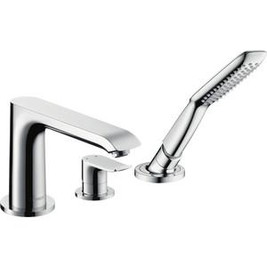 Смеситель для ванны Hansgrohe Metris на 3 отверстия (31190000) hansgrohe внутренняя часть на 3 отверстия 13437180