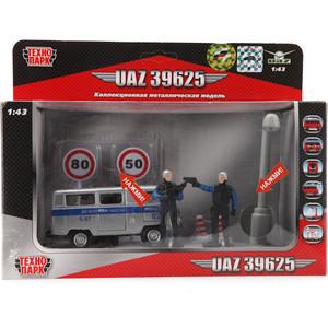 Машинка Технопарк металлическая, милиция/полиция дежурная часть (CT-1232-TL(WB))
