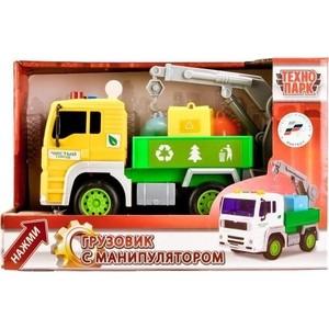 Машинка Технопарк пластиковая инерционная грузовик с манипулятором 1-20 (WY520C)