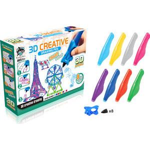 Игровой набор FITFUN TOYS детских 3D ручек, светящиеся чернила (1CSC20003393)